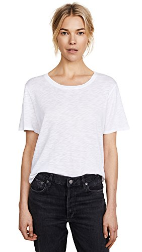 Splendid Women's Crew Neck Top, White, - Shopbop Designers