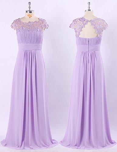Soirée Dentelle Empire Clair Robe Ever De Violet Femme Pretty Taille Aq4L35Rj