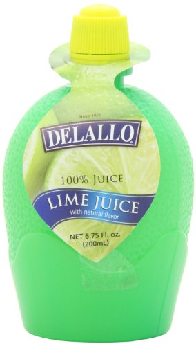 DeLallo Juice, Lime, 6.75-Ounce Plastic Containers (Pack of 12)