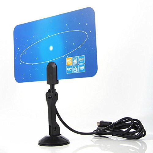 Marketworldcup Digital Indoor TV Antenna HDTV DTV Box Ready HD VHF UHF Flat Design High Gain