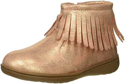 carter's Girls' Cata3 Rosegold Fringe Chukka Boot, Rose Gold, 7 M US Toddler