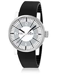 Fortis Men's 623.10.37 SI.01 Spacematic Classic White Black Silicone Band Watch.