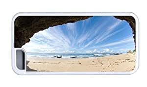 Hipster buy for ipod Touch 4 case Beach Cave Ocean TPU White for Apple for ipod Touch 4