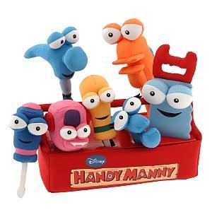 Playhouse Disney Handy Manny Plush Tool Kit Set Toys Games