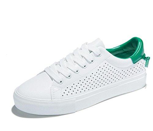 Verde Compras 38 Blanco Bottom Retro Señora Cómodo Estudiantes Zapatos White Plano Escuela GREEN Ocio 35 Movimiento XIE 74vSqBwwa