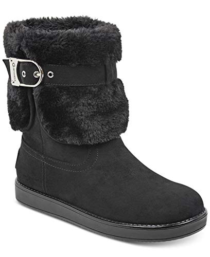 G By Guess Womens Aussie Closed Toe Ankle Cold Weather Boots, Black, Size 5.0