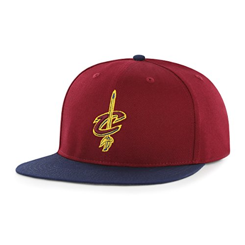 fan products of NBA Cleveland Cavaliers Gallant OTS Varsity Snapback Adjustable Hat, Cardinal, One Size