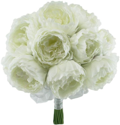 Ivory-Silk-Peony-Hand-Tie-24-Peonies-Bridal-Wedding-Bouquet