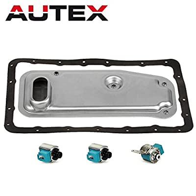 AUTEX A340E Transmission Master Solenoid Shift TCC with Filter Gasket Kit Set Compatible With Lexus 1994-1999/Toyota 4 Runner 4WD Late 1996-1999/Toyota Tacoma: Automotive