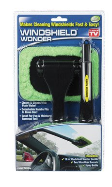 Telebrands Windshield Wonder Microfiber Long Handled Cleaning Tool