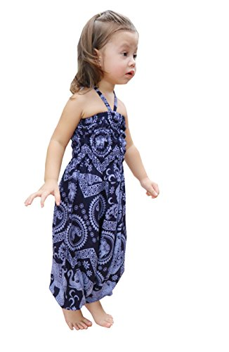 NaLuck Bohemian Harem Pants baby jumpsuits for girls and boys Baggy Aladdin Boho Pants BPH07-Navy7-3 (Genie Leggings M)