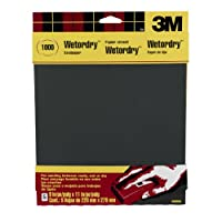 3M Wetordry Sandpaper, 1000-Grit, 9-Inch by 11-Inch, 5 Sheets