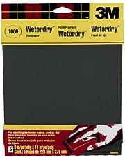 3M Lixa Wetordry, lixa 1000, 22,8 cm x 28,8 cm, 5 folhas - 9083NA-20, preta