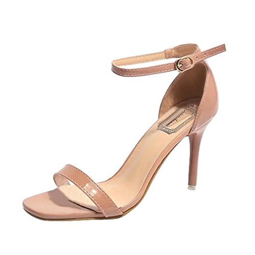 ASHOP Mujer Bohemia Playa Cuero Moda De y de Cordones C Las Sandalias Zapatillas de Sandalias Zapatos Chanclas Bailarinas High Planas Verano Heels rwqFrZxE5