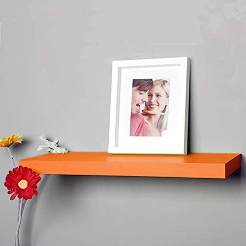 Best Value Here One 40cm Floating Wall Mount Shelves Bookcase Storage Childrens Display Shelf Red Matte, 40x20cm