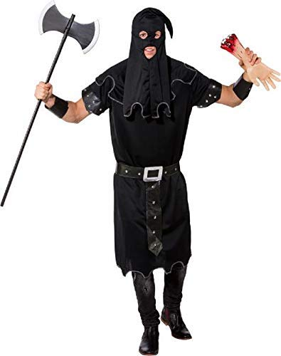 Mens Dark Executioner Historical World Book Day Week Halloween TV Film Movie Fancy Dress Costume Outfit (L/XL (EU -
