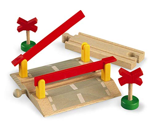 (BRIO World - 33388 Railway Crossing | 4 Piece Toy Train Accessory for Kids Ages 3 and Up)