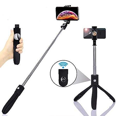 BaoLuo Selfie Stick,Bluetooth Selfie Stick, Stativ,HandyStativ, Erweiterbar Wireless Selfie-Stange Stab 360°Rotation mit Blue