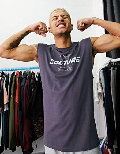 クチュールクラブ タンクトップ ノースリーブ アームホール メンズ The Couture Club oversized print sleeveless t-shirt ve [並行輸入品]