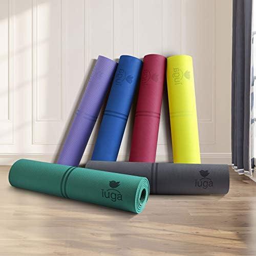 Amazon.com: Esterilla de yoga ecológica Iuga con líneas de ...
