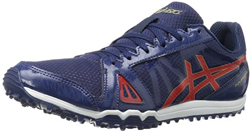 Asics Mens Hyper Xcs Cross-country Immobilier Chaussure De Course Bleu / Vermilion / Or Riche
