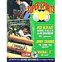 Super Sports (Jack Nicklaus Golf/Jimmy Connors Pro Tennis Tour/Hardball II) PC CD Boxed