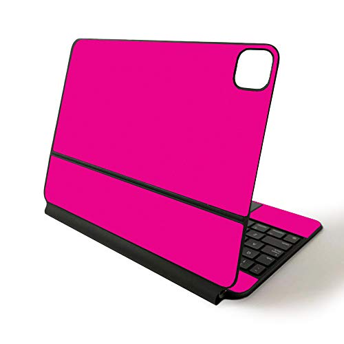 MightySkins Skin for Apple Magic Keyboard for iPad Pro 11-inch (2020) - Sushi | Protective, Durable, and Unique Vinyl Decal wrap Cover, Solid Hot Pink