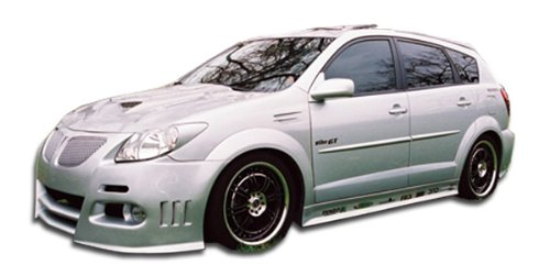 Duraflex Replacement for 2003-2008 Pontiac Vibe Graphite Side Skirts Rocker Panels - 2 Piece