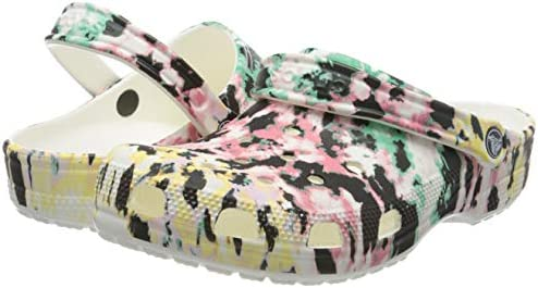 Crocs Unisex-Adult Classic Tie Dye Clog | Comfortable Slip on Water Shoes