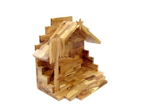 Handcarved Bethlehem Olive Wood Miniature Nativity Scene Set with Stable 12 pieces by Bethlehem Gifts TM by Bethlehem Gifts TM (Image #1)