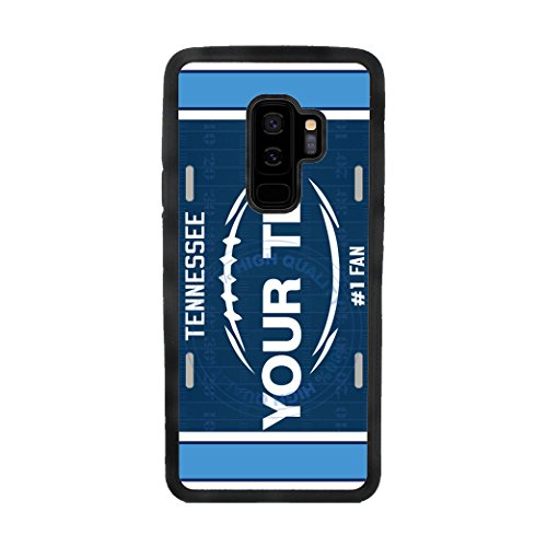 BleuReign(TM) Personalized Custom Name Football Tennessee License Plate TPU Rubber Silicone Phone Case Back Cover for Samsung Galaxy S9 Plus