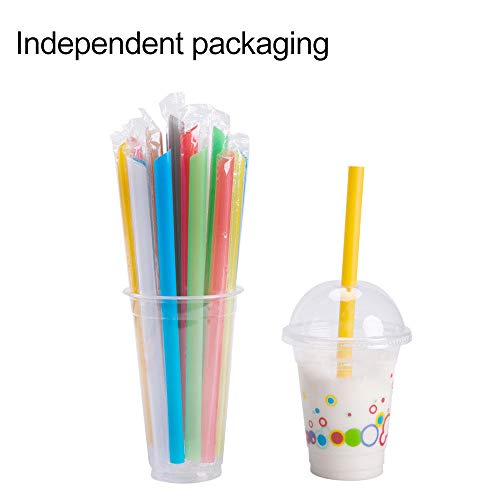 100Pcs Wholesale Dia. 1cm Disposable Recyclable Plastic Straight Drinking -