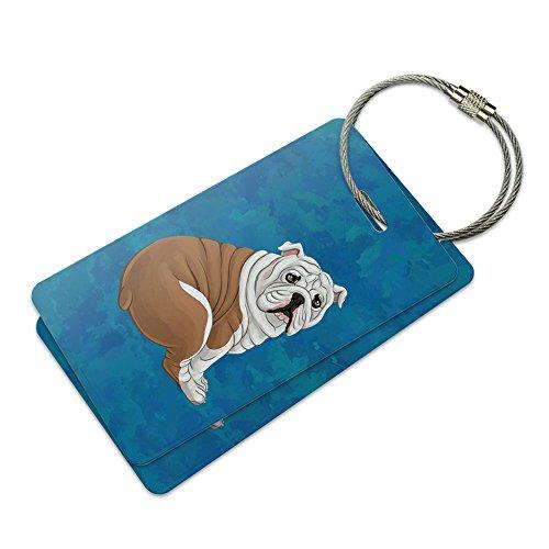 English Bulldog Suitcase Bag ID Luggage Tag Set