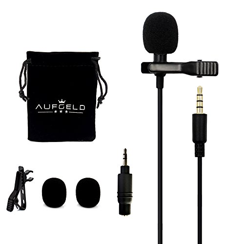 Professional Best Small Mini Lavalier Lapel Omnidirectional Condenser Microphone for Apple iPhone Android Windows Smartphones Clip On Interview Video Voice Podcast Noise Cancelling Mic Blogger Vlogger