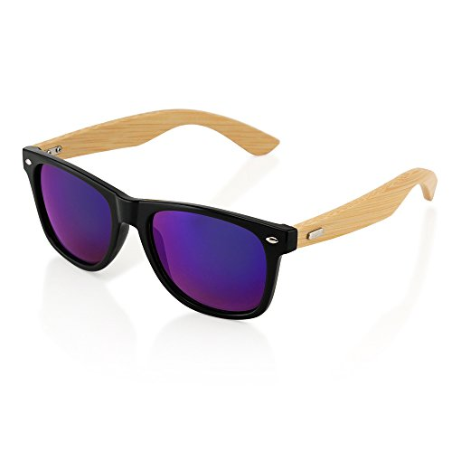 Oct17 Wood Bamboo Sunglasses Wooden Mens Womens Vintage ...