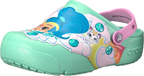 - Crocs Kids Baby Girl's Fun Lab Shimmer Shine Lights Clog (Toddler/Little Kid) New Mint 5 M US Toddler M