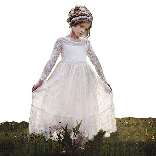 belababy Flower Girls Dress Ivory Lace in Wedding Party Size 2t (Tag size 90)