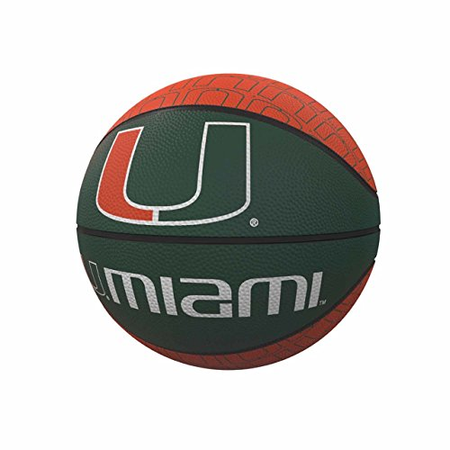 Logo Brands NCAA Miami Hurricanes Rubber Basketball, Miniature, Hunter by Logo Brands