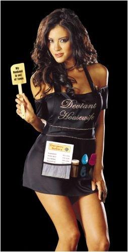 Desperate Housewife Halloween Costume (Sexy Dreamgirl Deviant Housewife Costume- Medium)