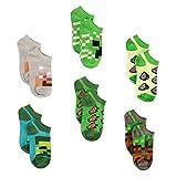 Minecraft Little Boys Low Cut Socks, 6 Pair