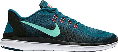 a255b1c25c87 Galleon - NIKE Women s Flex 2017 Rn Running Shoe (Blue Green