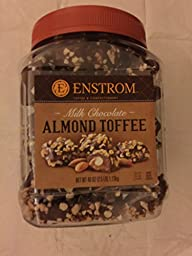 Enstrom Milk Chocolate Almond Toffee Nt Wt: 40 Oz, 1.13kg
