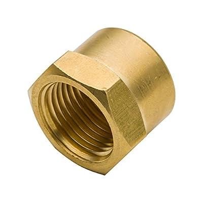 "Legines Brass Pipe Fitting, Hex Head Cap 1/8"" NPT Female (Pack of 5)"
