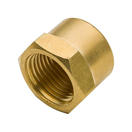 Legines Brass Pipe Fitting, Hex Head Cap, 1/8