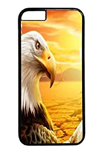 Eagle Polycarbonate Hard Case Cover for iphone 6 plus 5.5 inch Black