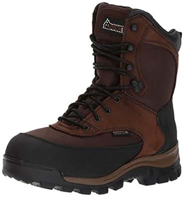 Rocky Men's FQ0004753 Mid Calf Boot, Dark Brown, 10 M US