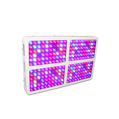 SGROW 2400W Full Spectrum LED Grow Light with 90 Degree Secondary Glass Lens for Indoor Plants Veg and Flower, Garden Greenhouse Hydroponic Plant Growing Lights
