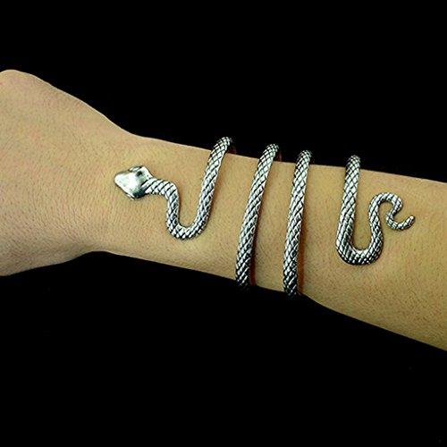 7215032c3966 Sharplace Brazalete Abierto Ajustable, en Forma de Serpiente ...