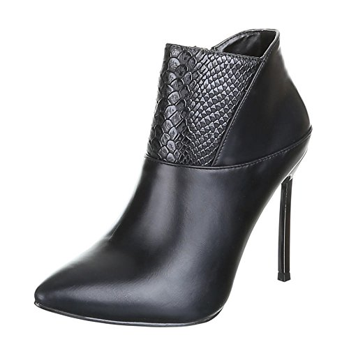 Womens Shoes, B433S KB High Heels Ankle Boots Ankle Boots Black