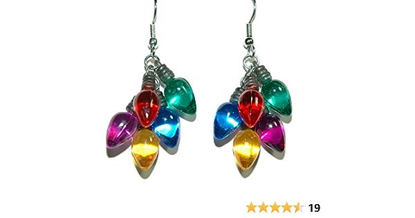 Mini Light bulb hand stamped earrings
